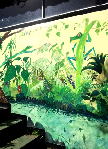 fresque pavillon grenouille